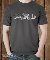 Jeep Life Wrangler Car T-Shirt - S M L XL 2XL 3XL - EZ-Vision Designs