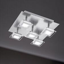 WOFI lámpara LED de techo Cholet 5 LLAMAS Níquel AJUSTABLE 25 vatios 1500 LUMEN