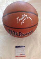 Bobby Hurley Hand Signed PSA Authenicated NCAA Wilson Basketball Duke