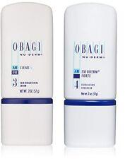 Obagi Nu Derm Clear FX Skin Brightening Cream & Exfoderm Forte Exfoliant 2 oz