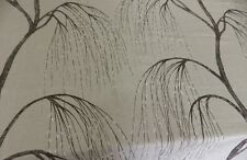 Harlequin Pussy Willow Charcoal Grey Tree Linen Fabric Remnant Off cut 1.3 m