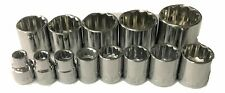 Craftsman 13pc 3/8 SAE 12pt Sockets Set Hand Tools Standard 3/8