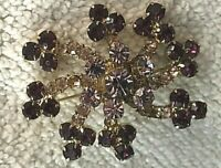 JOAN CRAWFORD TRULY ONE-OF-A-KIND 1968 PERSONALLY WORN/USED CRYSTAL BROOCH!!!!!