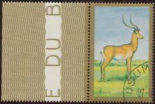 BURUNDI 1964 10 Fr Wildtiere Impala Randstück ABART MISSING COLORS + DOUBLEPRINT