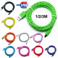 1/2/3M Micro USB Charger Sync Data Cable Cord for Samsung Sony HTC Huawei Nokia