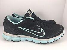 Nike Dual Fusion ST Women US 10 Black + Blue Athletic Comfort Shoes