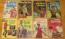 Dell 1953-1962 Photo Cover TV & Movie Lot 2 LION OF SPARTA, RIN TIN TIN, ROB ROY