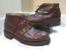 Mens Vintage Robert Wayne 'CHUCK' Leather Dark Brown Casual Boots Sz. 11