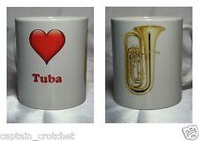 MUSIC DESIGN MUG - I Love Tuba - Brass Band Mug