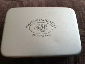 Vintage Richard Wheatley fly box 6 x windows with loads of tied flies used
