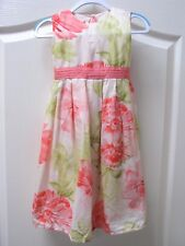Monsoon Silk Blend Party Dress 2 - 3 years Floral Pretty Wedding EX CON Party