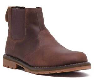 Timberland A1OJF Larchmont Men Leather Chelsea boots In Brown Size UK 6 - 12