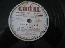 Coral 60266-Cliff Steward And The San Francisco Boys-Kewpie Doll/Goodnight Irene