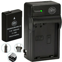 BM EN-EL14a Battery & Charger for Nikon D3100, D3200, D3300, D3400, D3500, DF