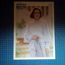 Patons Women's Fashion Mohair Sweater Knitting Pattern 4163