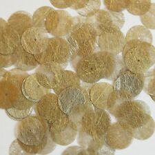 Round Sequin 15mm Gold Silky Fiber Strand Fabric Couture Paillettes