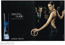 PUBLICITE ADVERTISING 105  2006  GIORGIO ARMANI   parfum femme CODE ( 2p)