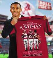 Never Underestimate The Power Of A Woman Alabama Crimson Tide T-Shirt Funny gift