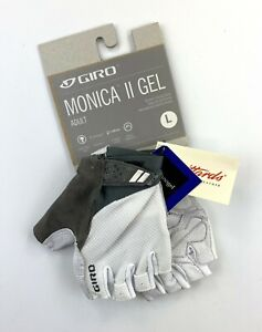 Giro Monica II Gel Cycling Gloves White / Gray Size Women's Large New