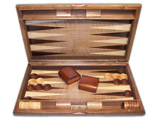 "Dal Rossi Italy Backgammon, walnut burl deluxe 19"""