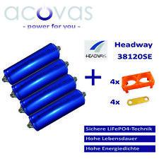 2x Headway 38120 HP LFP//LiFePo4 8Ah 25C 3,2V Akku Zellen Rundzellen