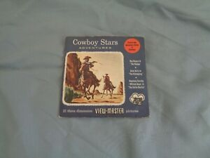 SAWYERS EARLY RARE VIEWMASTER UNNUMBERED PACKET COWBOY STARS REF 946/951/956
