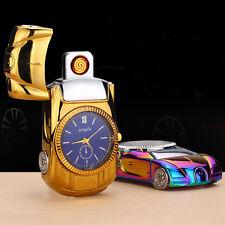 Multifunctional Windproof Cigarette Lighter Sports Car Quartz Watch