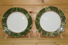 Aynsley ONYX GREEN (2) Bread & Butter Plates | Bone China | England