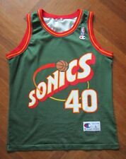 SHAWN KEMP SEATTLE SUPERSONICS NBA SONICS Jersey Trikot canotta maglia basket