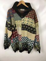 GOUT Herren Pullover, Größe XL, mehrfarbig, warm, Wolle, Vintage