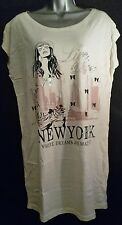 Ellos New York Where Dreams Are Made Of Print T-Shirt Size 12/14 La/Redoute/Love