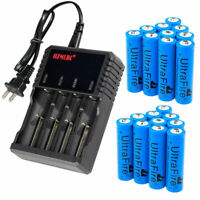 Lot UltraFire 3000mAh 18650 Battery 3.7V Li-ion Rechargeable Batteries Charger