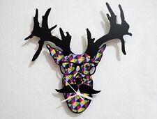 Hipster Deer - Wall Clock