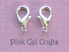 25 x Silver Plated LOBSTER CLASPS 14mm FINDINGS