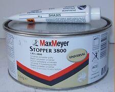 Max Meyer 3800 2k tapón Masilla poliéster 1,5 Kg-Gris Claro coche Cuerpo Relleno