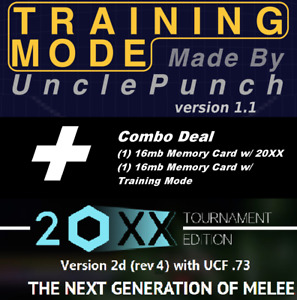 20XX + UnclePunch Super Smash Bros Melee Training Packs Combo [2 Memory Cards]