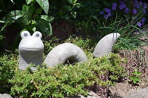 Regenwurm - Rüdiger - dreiteiliger Wurm aus Steinguss