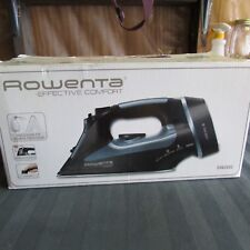 Rowenta Effective Comfort Cord Reel DW 2092 Electric Iron Dark Grey Blue nib
