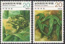 Korea 1979 pluie grenouille/Grenouilles/Plantes/NATURE/FAUNE/conservation 2 V Set (n27365)
