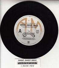 "CARPENTERS Sweet, Sweet Smile  7"" 45 rpm vinyl record + juke box title strip"