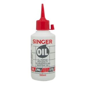 SINGER Sewing Machine Oil For All Purpose Household & Industrial Use 100ml