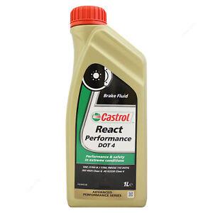 Castrol React Performance Dot 4 Synthetic Brake Fluid DOT4 - 1 Litre 1L
