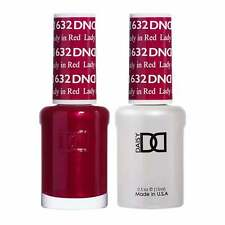 DND Duo Gel & Nail Polish Set - Lady In Red 632 - 2x15ml