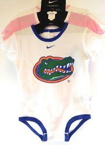 NEW Infant Toddler Girls Kids NIKE Florida Gators 3 pack NCAA Shirts Bodysuits