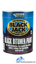Everbuild 901 Black Jack Bitumen Paint Weatherproof Protection - 1 Litre