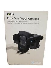 NEW IOTTIE BLACK EASY ONE TOUCH CONNECT ALEXA ENABLED CAR MOUNT APPLE ANDROID!!