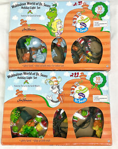 Wubbulous World of Dr.Seuss Christmas Holiday Light Set Lot Of 2 Tested Works