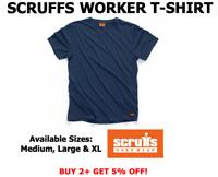 Scruffs Worker T-Shirt T Shirt Work Top Navy S M L XL ALL SIZES NEW 2019 RANGE!