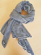 NEW 100% CASHMERE FAIR TRADE PASHMINA SCARF SHAWL WRAP MADE IN NEPAL 200X70 CM 7