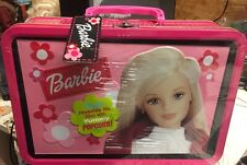 Barbie - Tin Collector Box - 2000 - with Gourmet Popcorn - Brand New - New -